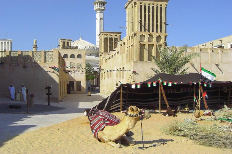 Zabytkowa dzielnica Al Fahidi leżąca nad wybrzeżem Dubai Creek