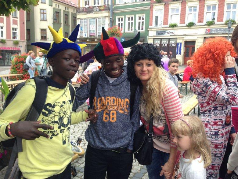 Katarzyna Francuziak goszcząca Brave Kids z Ugandy