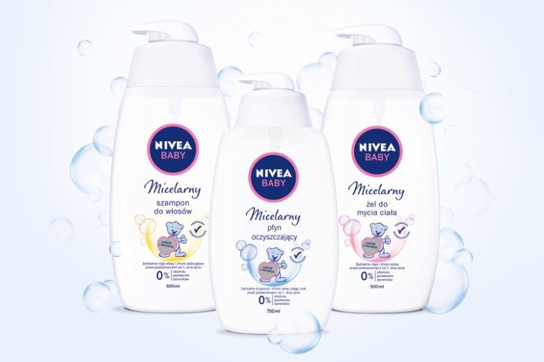Micelarna linia NIVEA Baby to bezpieczna pielęgnacja skóry maluszka bez podrażnień!