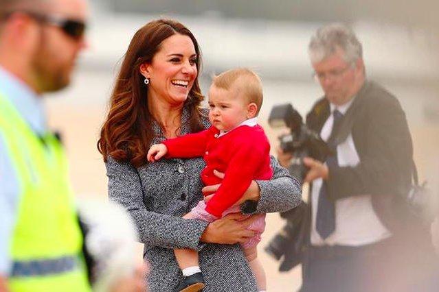 Kate Middleton z księciem Jerzym