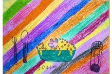 Rysunek podopiecznej świetlicy środowiskowej Stowarzyszenia SOS Wioski Dziecięce