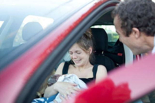Poród w samochodzie na poboczu. Screen ze strony The Birth Story