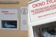 Zmanipulowane zdjęcie Okna Życia w Radomiu.