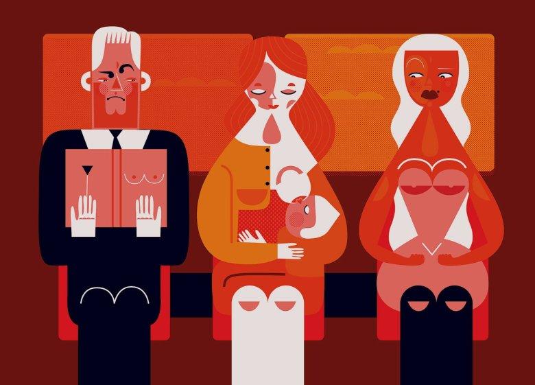 Komentarz ilustratorki Katarzyny Boguckiej z okazji Światowego Tygodnia Karmienia Piersią. Do kupienia w formie plakatu na ich stronie.