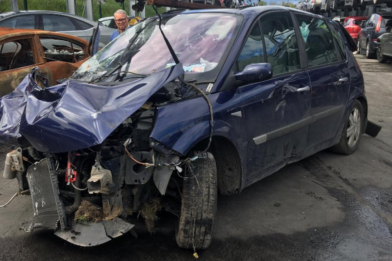 Tak wyglądało auto po wypadku