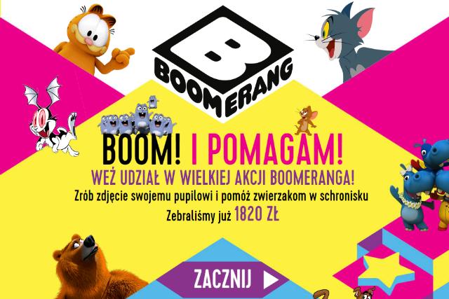 W aplikacji Boomeranga możesz zmienić zdjęcie swojego pupila w ulubionego bohatera z kreskówki.