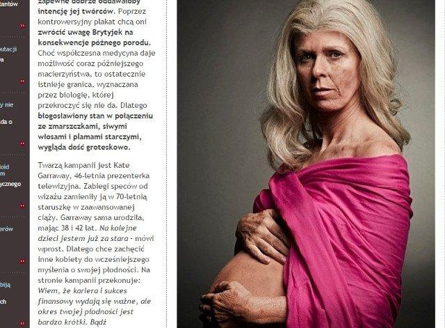 Fot. Screen ze strony [url=http://www.kampaniespoleczne.pl/kontrowersje,5904,babcia_decyduje_sie_byc_mama]Kampanie społeczne[/url]