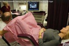 Joannie Krupie w pobieraniu komórek jajowych do zapłodnienia towarzyszyła kamera.