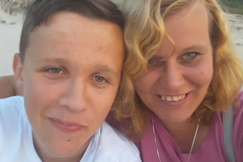 Marta Dziubka z synem.