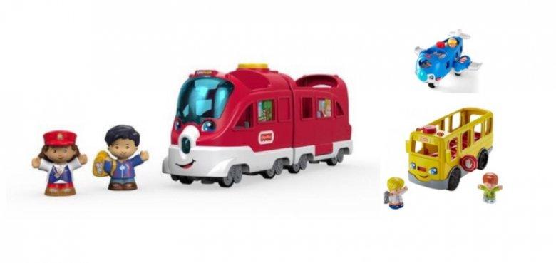 Samolot, Pociąg i Autobus Małego Odkrywcy Little People