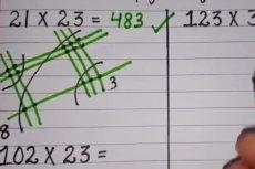 Patent na naukę mnożenia przy pomocy linii i kropek.