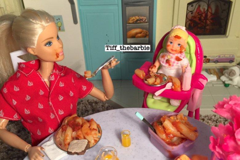 Barbie w roli matki pobija Instagram.