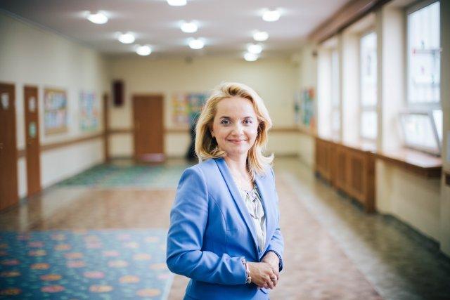 Wioletta Krzyżanowska – dyrektorka Szkoły Podstawowej nr 323 im. Polskich Olimpijczyków
