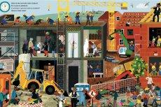 ''Coś się dzieje na budowie!'' to  kolejną książka dla dzieci z cyklu ''24 godziny'', autorstwa niemieckiej ilustratorki Britty Teckentrup. Na polskim rynku jest dostępna od 6 lutego 2018 roku