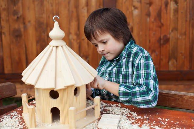 Budowa karmnika może być super zadaniem dla dziecka