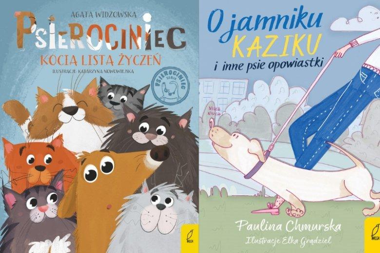 """""""Psierociniec. Kocia lista życzeń"""" oraz """"O jamniku Kaziku i inne psie opowiastki"""" to najnowsze pozycje w katalogu specjalizującego się w dziecięcej literaturze Wydawnictwa Wilga"""