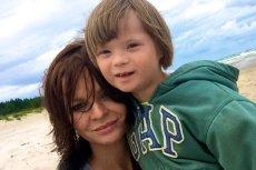Agata Komorowska z synem Krystianem.