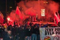 Marsz narodowców został rozwiązany ze względu na antysemickie hasła i używanie materiałów pirotechnicznych