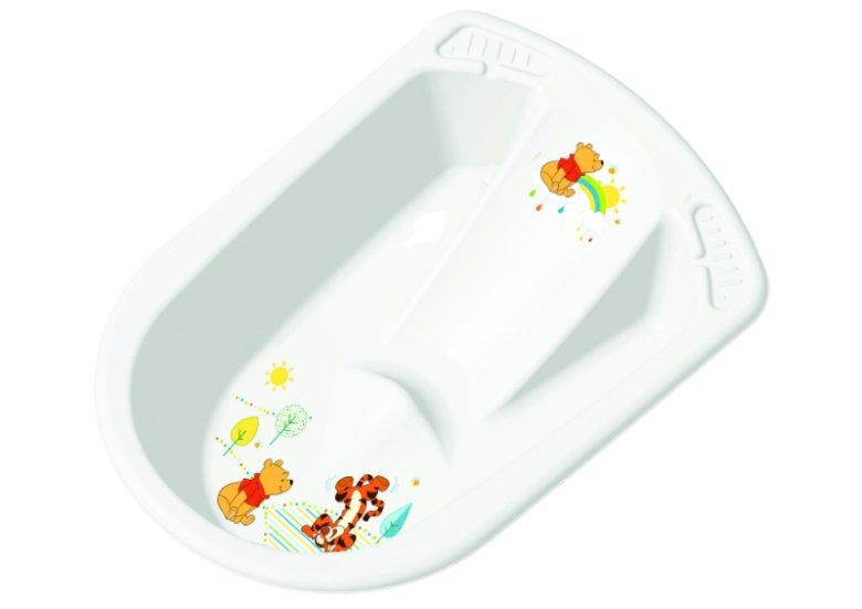 """""""julia"""" produkcji keeeper to przykład wanienki anatomicznej, która niemowlętom umożliwia kąpiel w dwóch optymalnych dla wieku pozycjach – siedzącej i leżącej. Posiada także wbudowany antypoślizgowy leżaczek."""