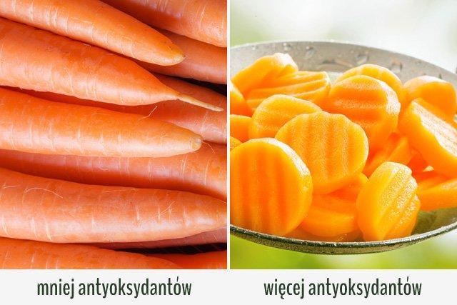 W gotowanej marchewce znajdziesz więcej karotenoidów.