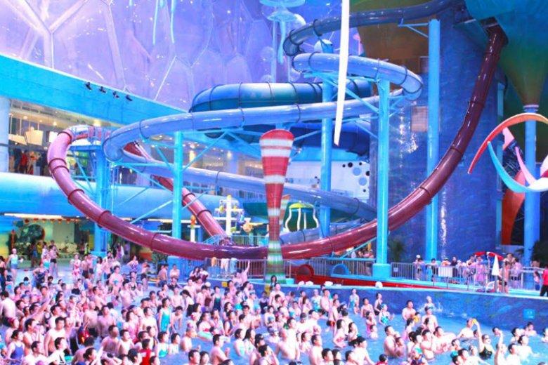 Park wodny Happy Magic Water Cube powstał po zagospodarowaniu przestrzeni w budynku Pływalni Olimpijskiej w Pekinie