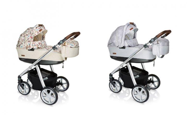 W limitowanej wersji wózek Espiro Next Avenue dostępny jest w dwóch kolorach Birdy Beige i Silver Nature