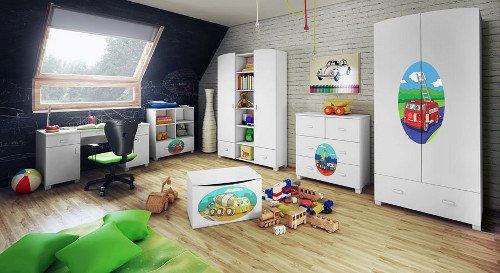 Wszystkie krawędzie blatów i frontów w kolekcjach dziecięcych MIRETTO są zaokrąglone.