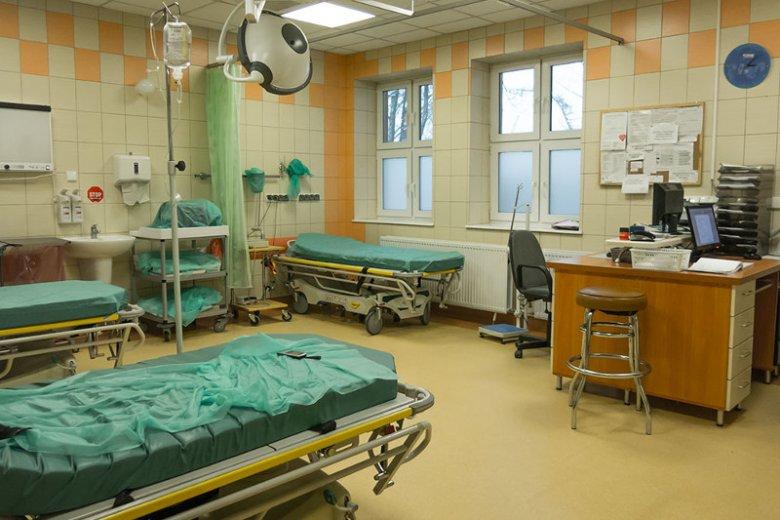 Szpital Powiatowy w Nowym Mieście Lubawskim – wyremontowana izba przyjęć.