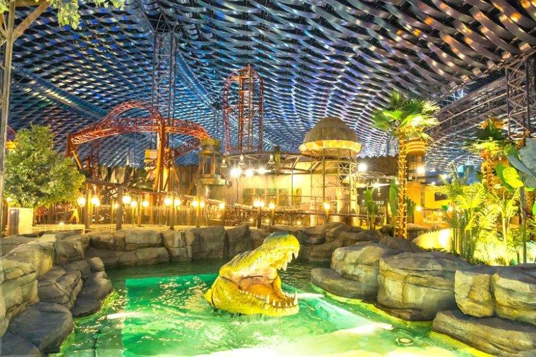 Park tematyczny z dinozaurami w kompleksie rozrywkowym IMG Worlds of Adventure