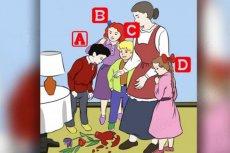 Który dziecko zbiło wazon?