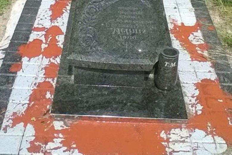 Zniszczony grób 5-letniej Tosi