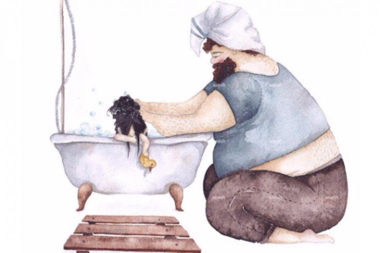 Rysunki to codzienność rodzica, ale pokazana tak pięknie, że trudno oderwać od nich wzrok.