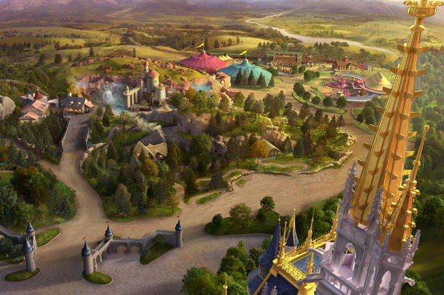 Tak wygląda Fantasyland z lotu ptaka.